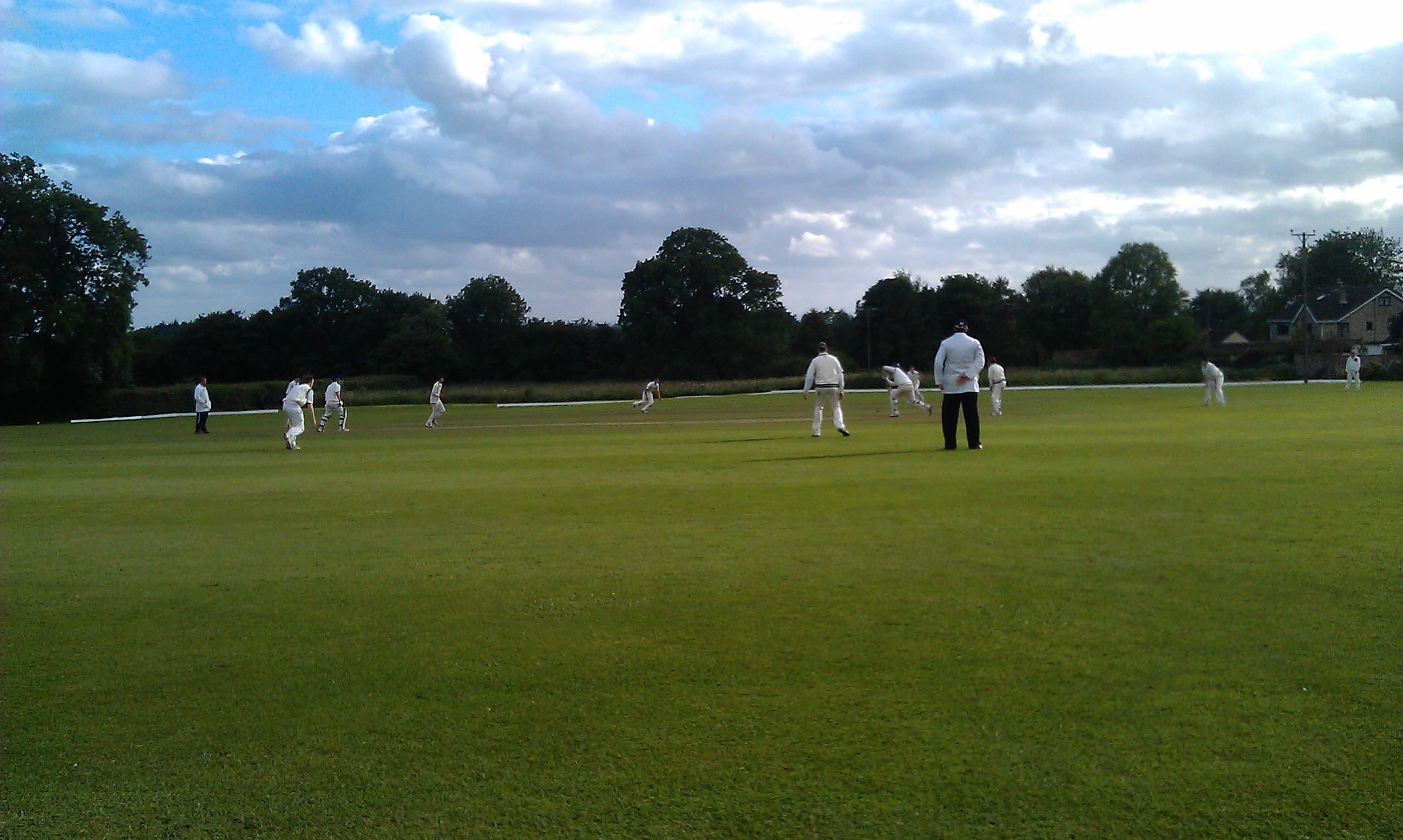 Kilve 1st XI chase well on the hottest day of the year